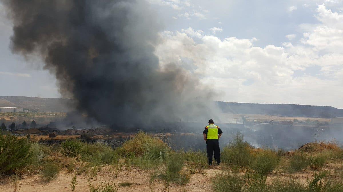 «No hay ningún riesgo medioambiental» tras el incendio de Chiloeches