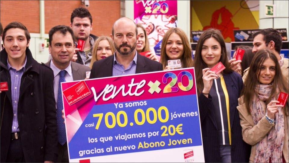 Éxito del nuevo Abono Joven de Transporte de Pedro Rollán