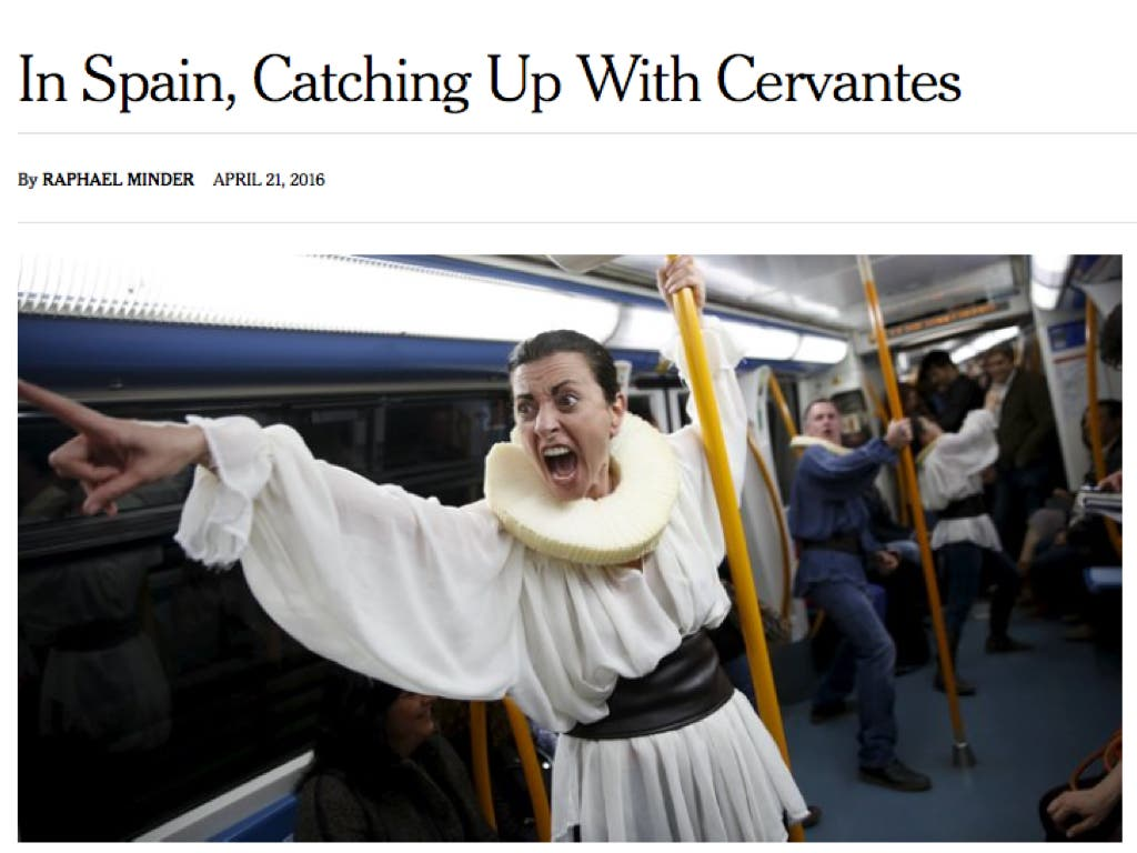 Duro artículo del New York Times: ¨España tiene una deuda con Cervantes¨