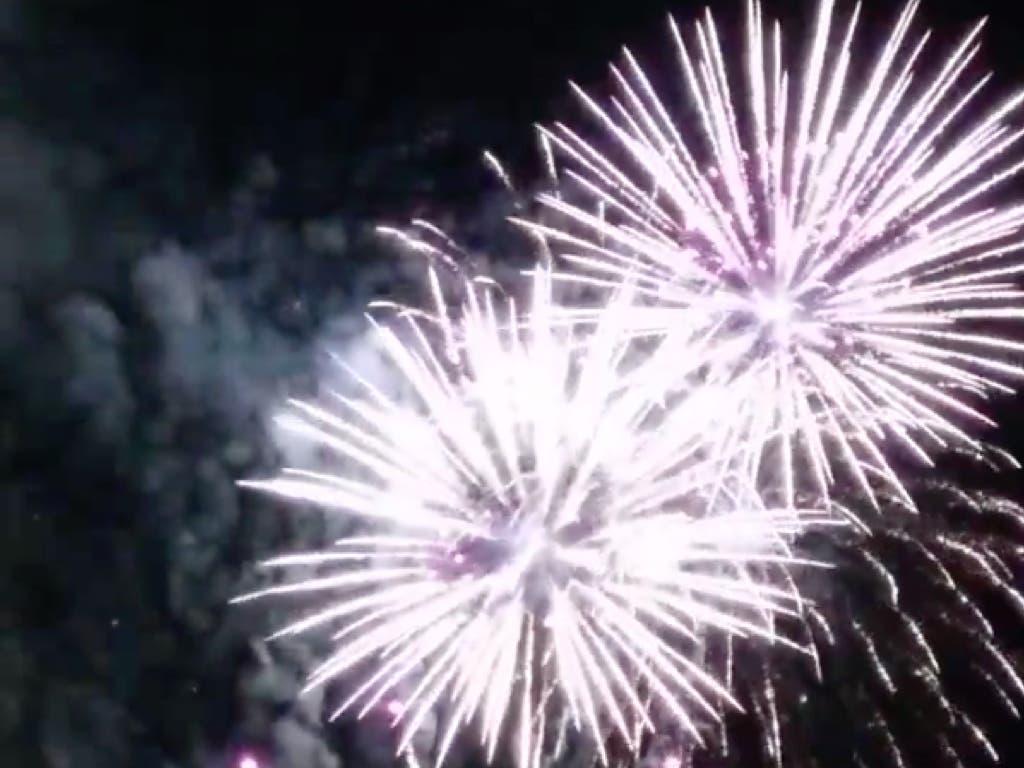 Alcalá cierra un día histórico con fuegos artificiales