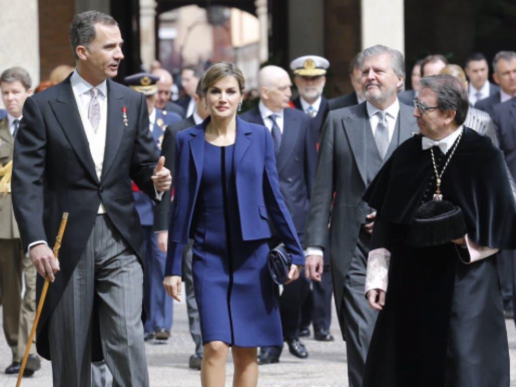 De lo más comentado: El look reciclado que lució ayer la reina Letizia en Alcalá