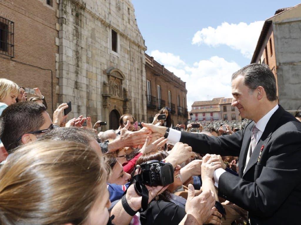 Baño de masas de Los Reyes y Rajoy en Alcalá