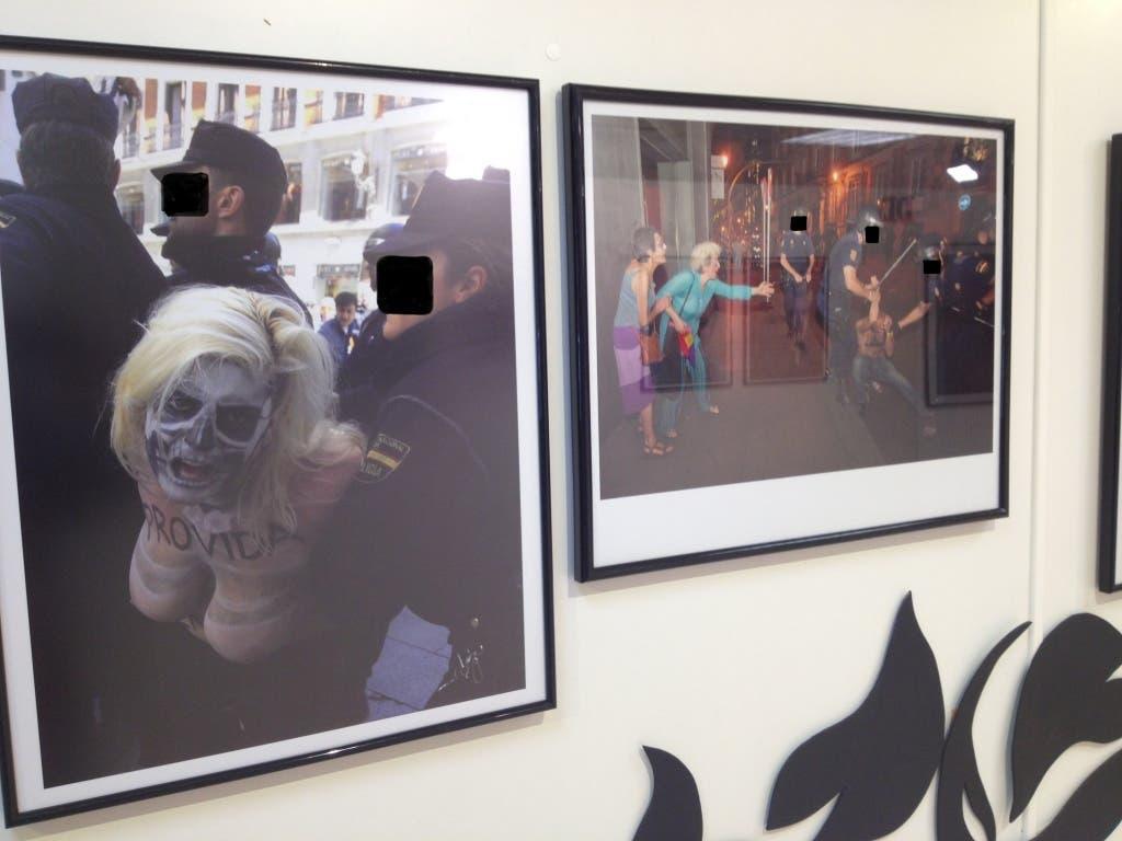 Imágenes tomadas de la exposición difundidas por Ciudadanos Alcalá