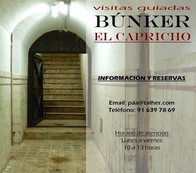 Visitas guiadas al búnker de El Capricho (Plataforma Ciudadana)