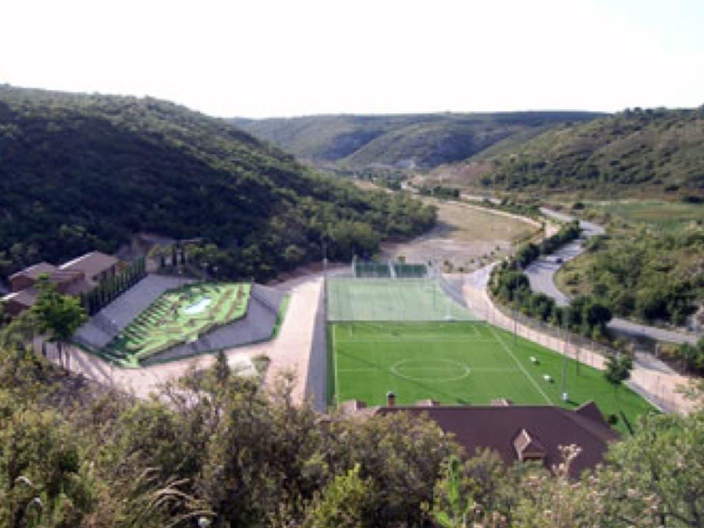 Fotografía del complejo construido en Loeches. Fuente: Asociación Profesional de Agentes Forestales de la Comunidad de Madrid