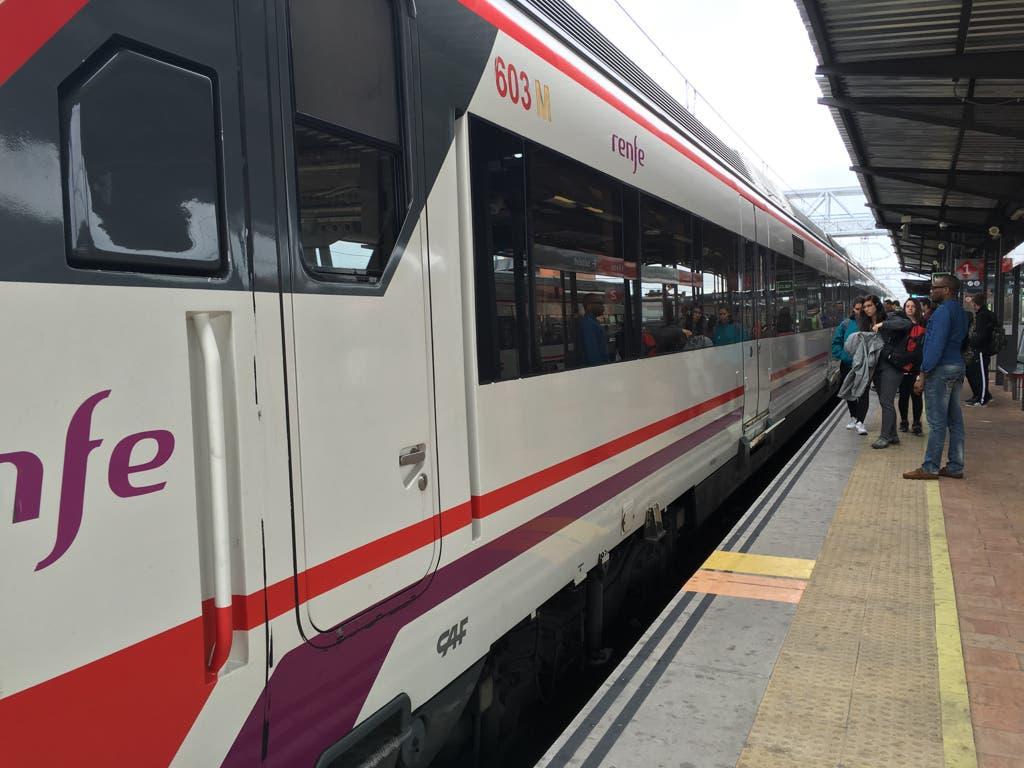 Detenido un tren dirección Guadalajara por el accionamiento indebido de la alarma
