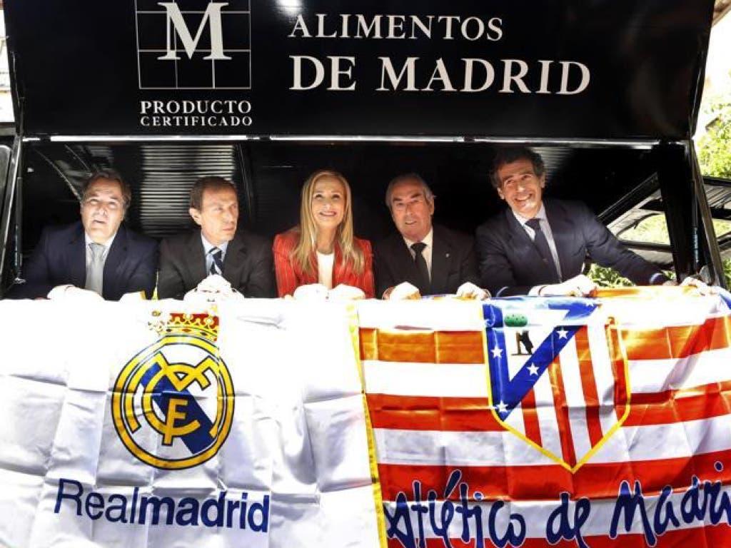 7.200 raciones de aceitunas de Campo Real viajan a Milán para promocionar Madrid en la Champions