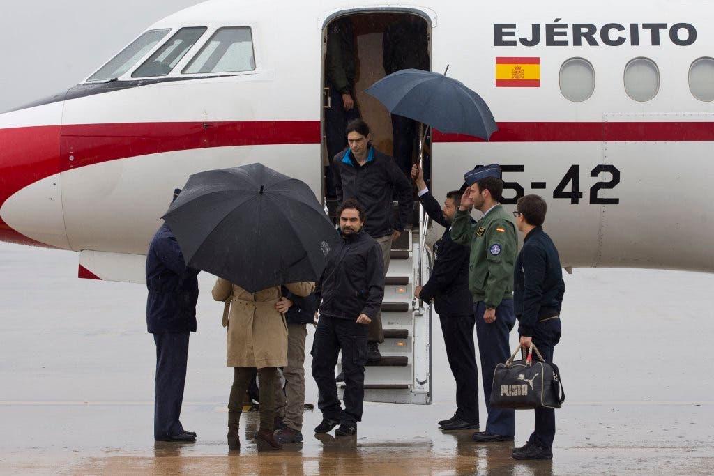 Llegan a Torrejón los tres periodistas secuestrados en Siria
