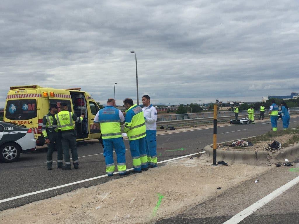 Dos muertos en accidente de moto junto a la Base de Torrejón