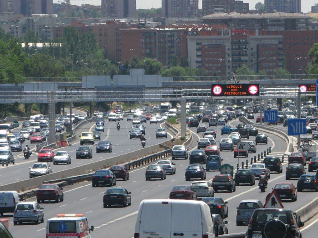 Madrid reduce temporalmente la velocidad máxima en un tramo de la M-30