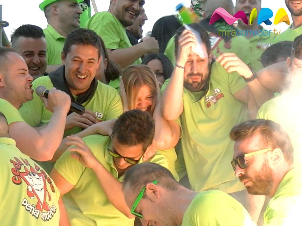 Las Peñas de Sanfer sacan los colores a la alcaldesa en su tradicional Pregón