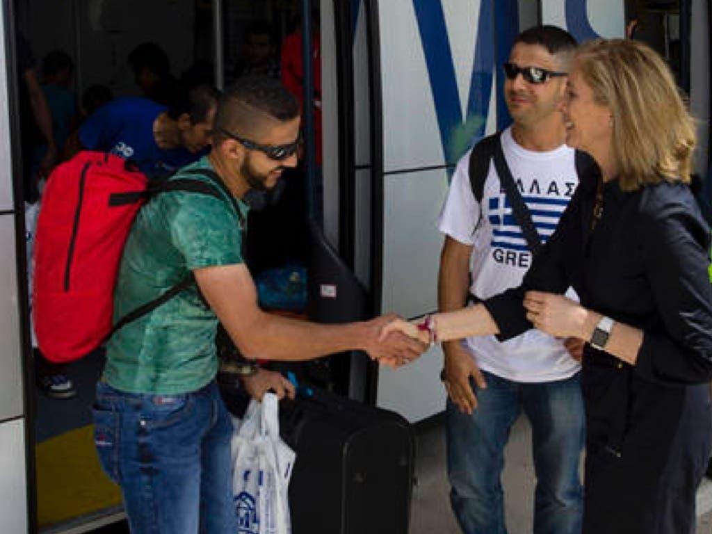 Llegada de los refugiados al aeropuerto de Barajas. Fuente imagen: Ministerio del Interior.