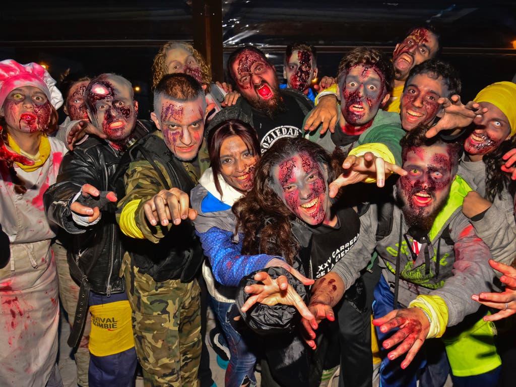 Más de 800 jóvenes participaron en la Survival Zombie del Parque Europa de Torrejón