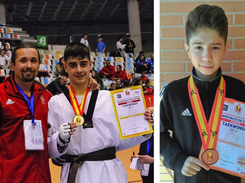 Dos jóvenes de Torrejón, en lo más alto del taekwondo nacional