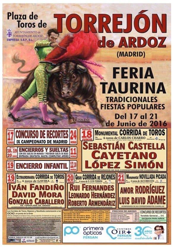 Cartel Feria Taurina Torrejón