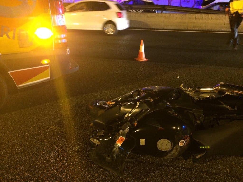 Fallece un motorista en un accidente en la A2, a la altura de Arturo Soria