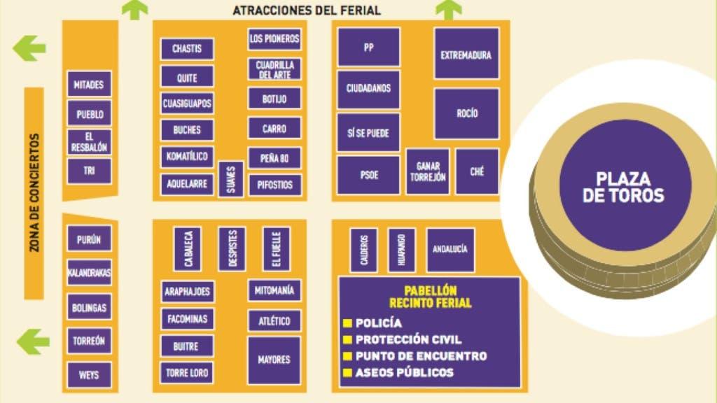 Plano de Peñas y Asociaciones.