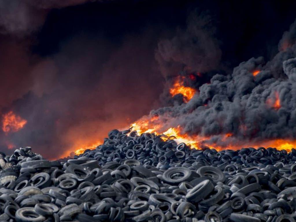 Chiloeches (Guadalajara) albergará algunos de los neumáticos que no ardieron en Seseña