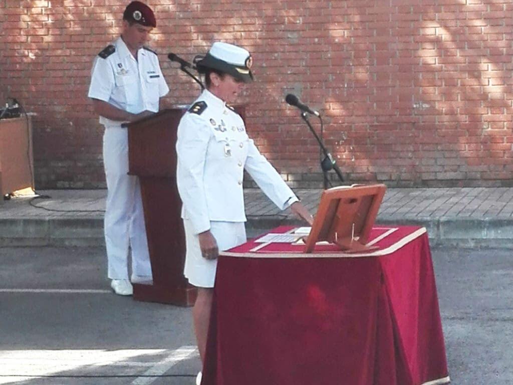 Ana Betegón toma posesión de su cargo en la Base Aérea de Torrejón. Fuente imagen: Ejército del Aire.