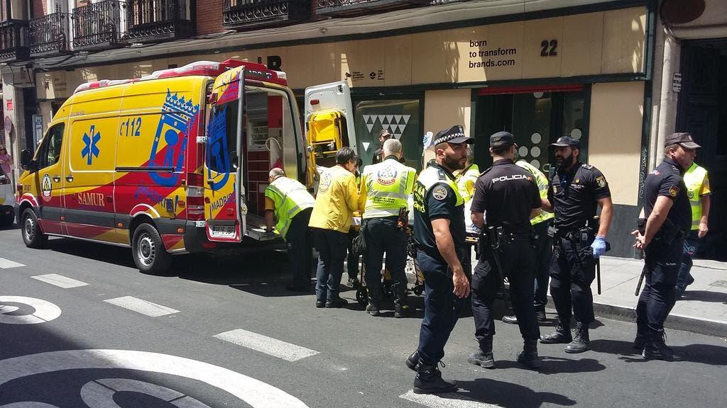 Una reyerta en un hostal del centro de Madrid deja dos heridos graves