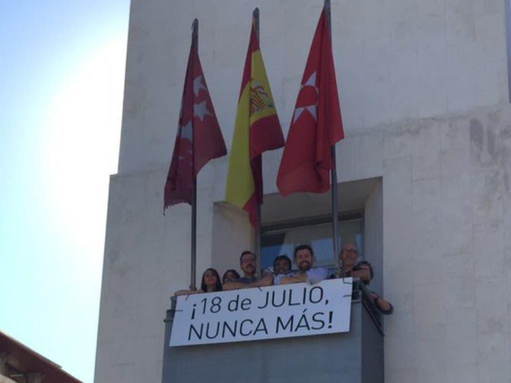 Rivas reivindica la memoria histórica en el 80 aniversario del golpe franquista