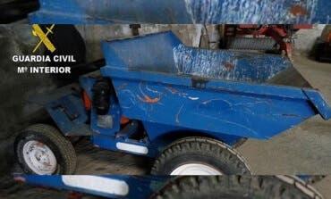 Detenidos en la provincia de Guadalajara por robar maquinaria de obra