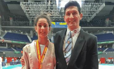 La torrejonera Paula Juan Martínez, medalla de oro en el Campeonato de España de Judo Infantil