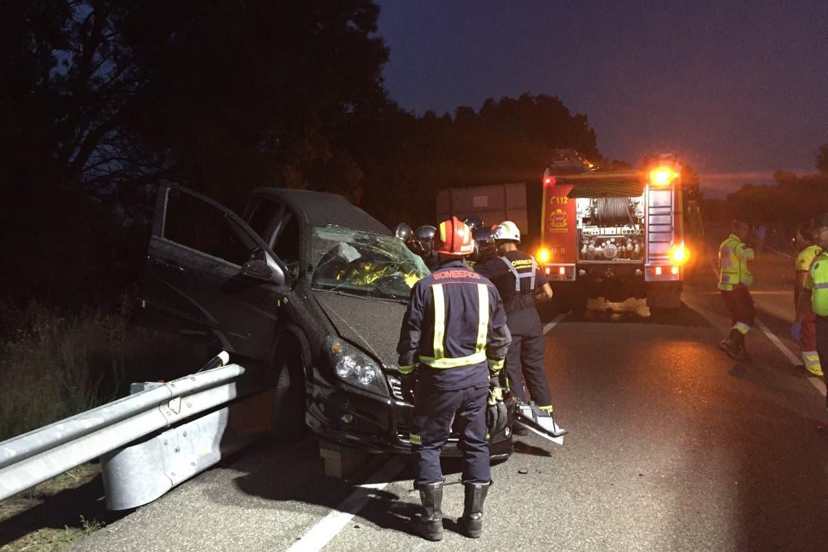 Dos muertos y dos heridos graves en un accidente anoche en Madrid