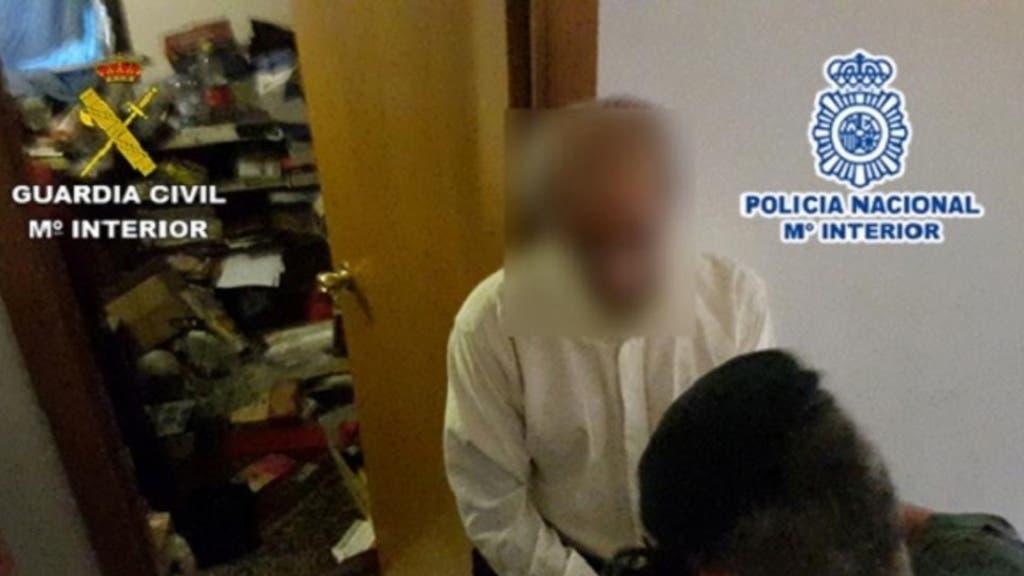 Imagen del momento de la detención. Fuente: Guardia Civil y Policía Nacional.