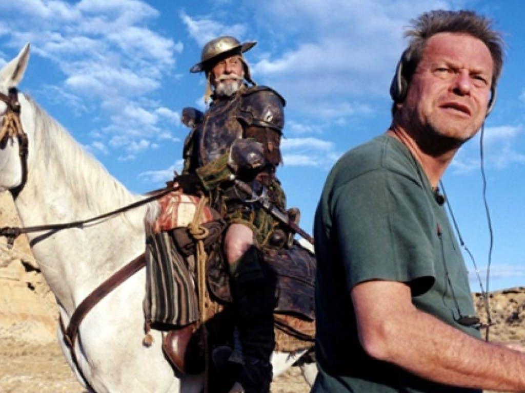 Terry Gilliam en una secuencia del documental Lost in La Mancha, en el que se cuenta el fracaso del rodaje que ha intentado llevar a cabo desde los años 90