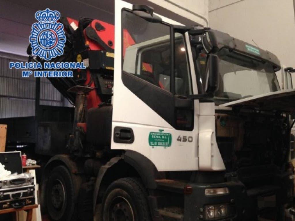La Policía recupera en Arganda 200 motores y dos camiones robados
