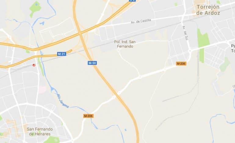 La Comunidad mejora un tramo de la M-206 entre Torrejón y San Fernando
