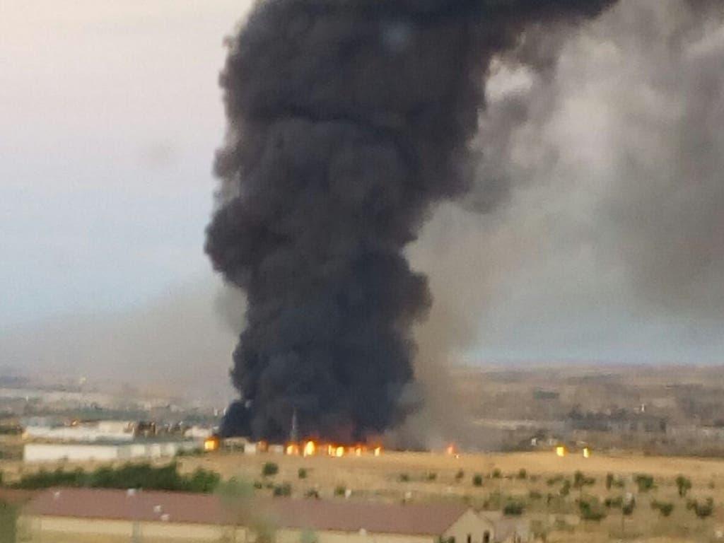 Pendientes del incendio declarado en una planta de reciclaje de Chiloeches