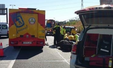 Fallece un joven de 28 años tras perder el control de su moto en la M30