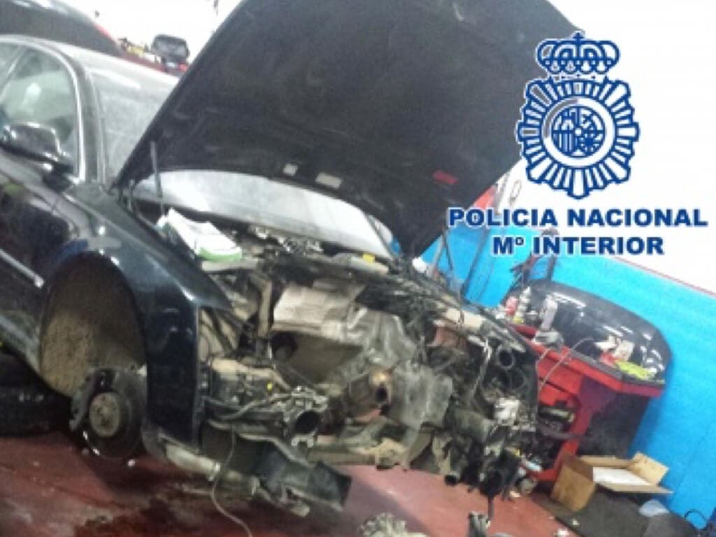 Localizado el motor de un coche robado en Coslada en una operación con 14 detenidos