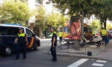 Herido grave un motorista de 26 años tras sufrir un accidente en Atocha