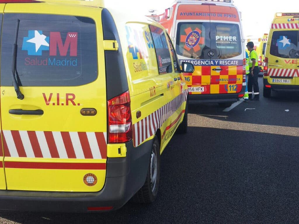 Herida grave una joven de 22 años tras sufrir un accidente en Torrejón