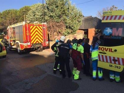 Herido un okupa en el incendio de un chalé en Madrid