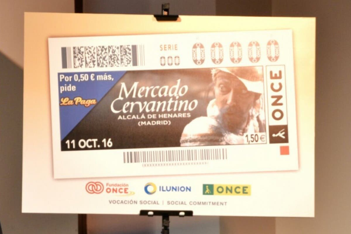 Alcalá presenta su Mercado Cervantino con un cupón de la ONCE