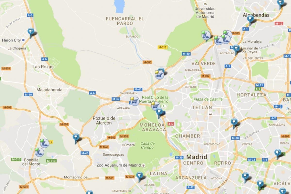 Retenciones en los accesos a Madrid por dos accidentes en la M-40
