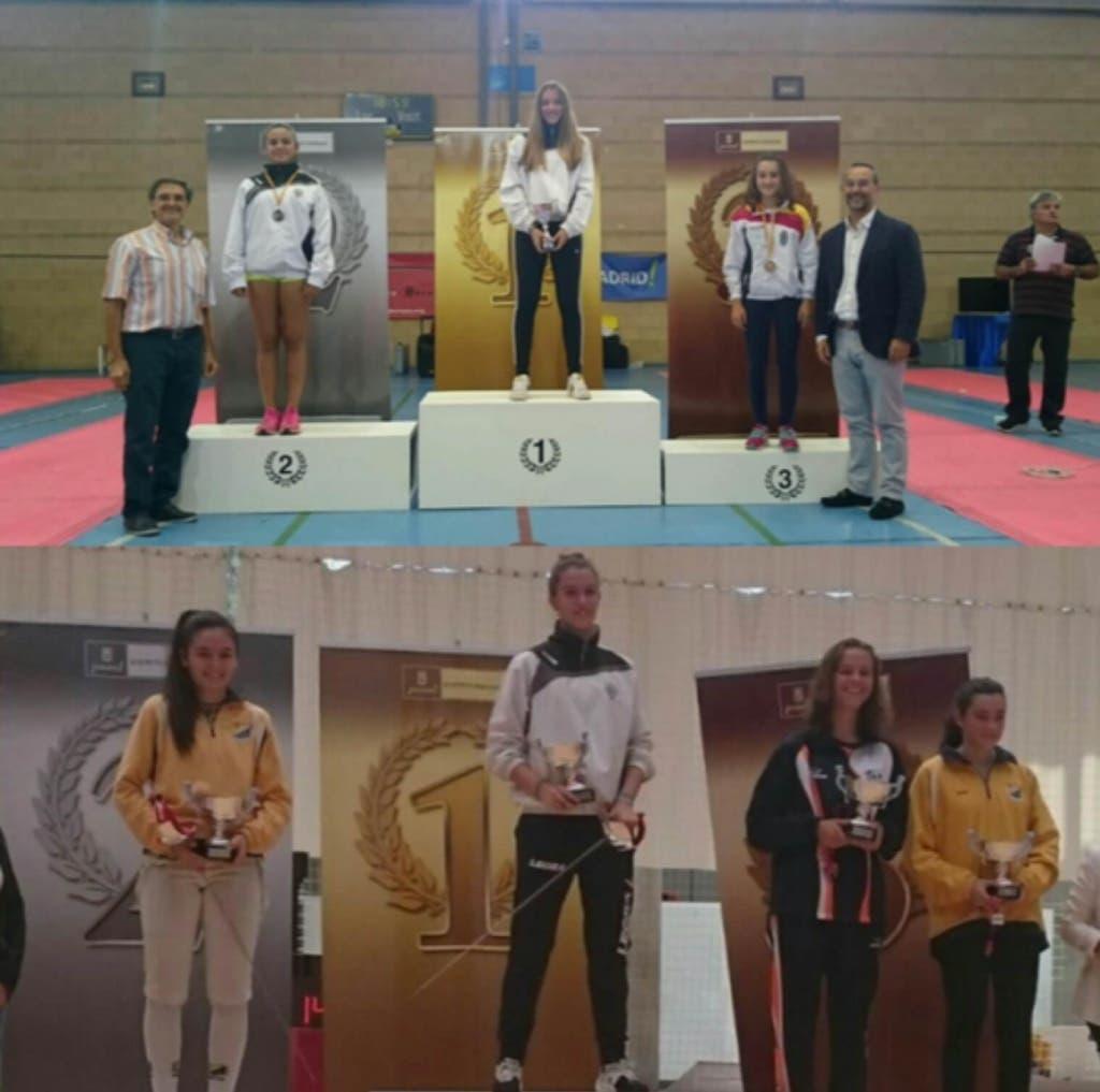 Eva Ventura Jorquera (foto superior) medalla de Oro en la primera fase de la Liga de Ocio y María Ventura Jorquera (foto inferior) medalla de Oro Primer Torneo Nacional Cadete (Ayto. San Fernando).