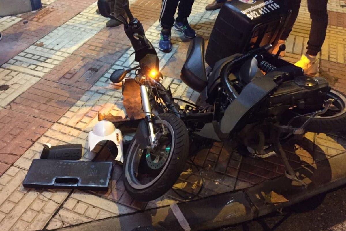 Grave un joven de 26 años tras un accidente de moto en Madrid
