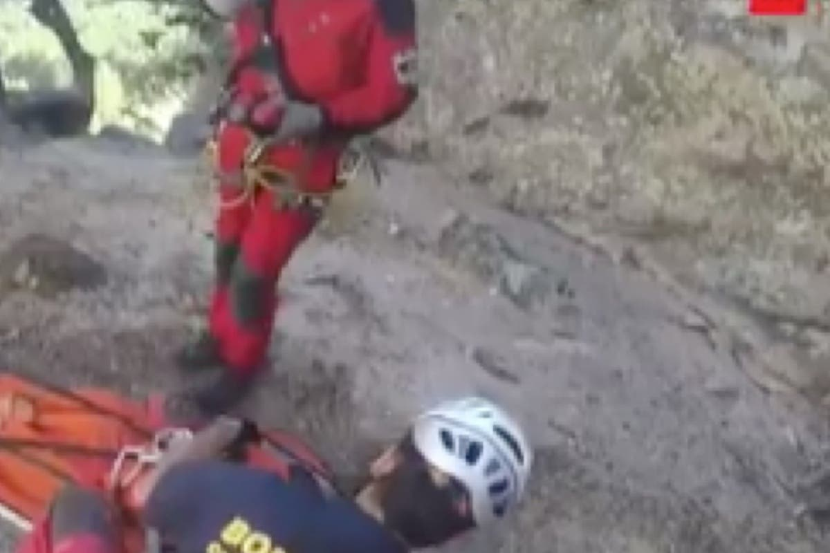 Rescatado un montañero herido en La Pedriza