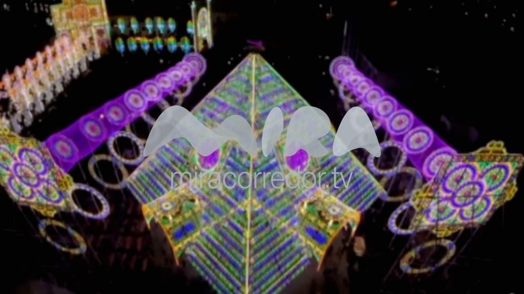 Pirámide de luz y sonido en las Navidades de Torrejón 2016 (MiraCorredor.tv)