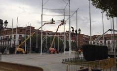 Comienza el montaje del alumbrado de Navidad en Torrejón