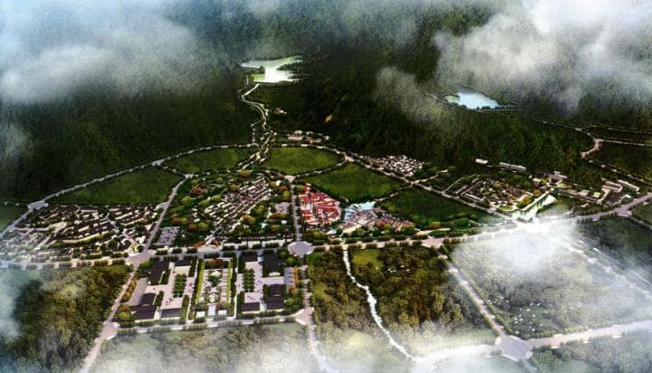 Una representación de la nueva ciudad desde arriba (The Telegraph)