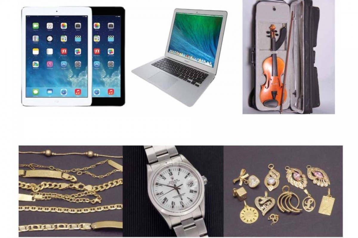 Madrid subasta 1.300 objetos perdidos: relojes, gafas, joyas y hasta productos Apple