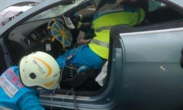 Dos heridos en un accidente en la A-2, a la altura de San Fernando de Henares