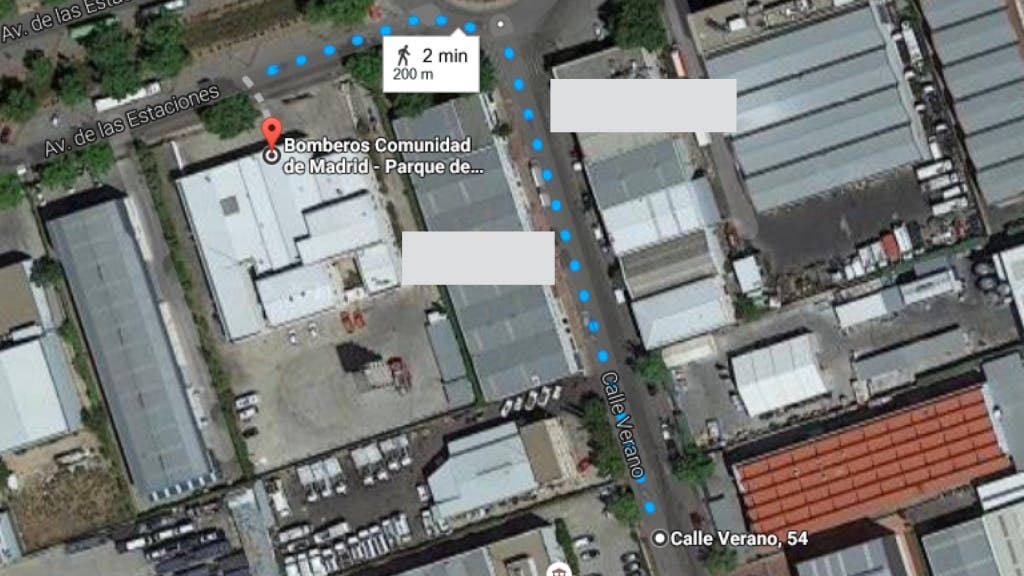 Mapa de situación de la zona (Google Maps).