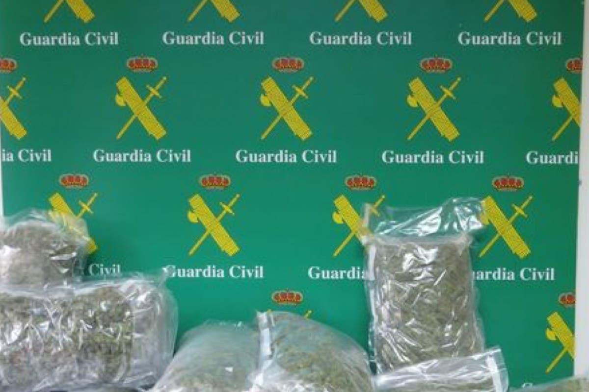 Detenido en León un vecino de Torrejón con 6,5 kilos de marihuana